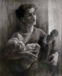 Fig. 9, Angelo Longanesi Cattani, Venditore di statuette, 1926 circa, Roma, collezione privata