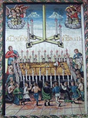 Fig. 2, Anonimo artista ferrarese, Compianto di Alfonso I d'Este