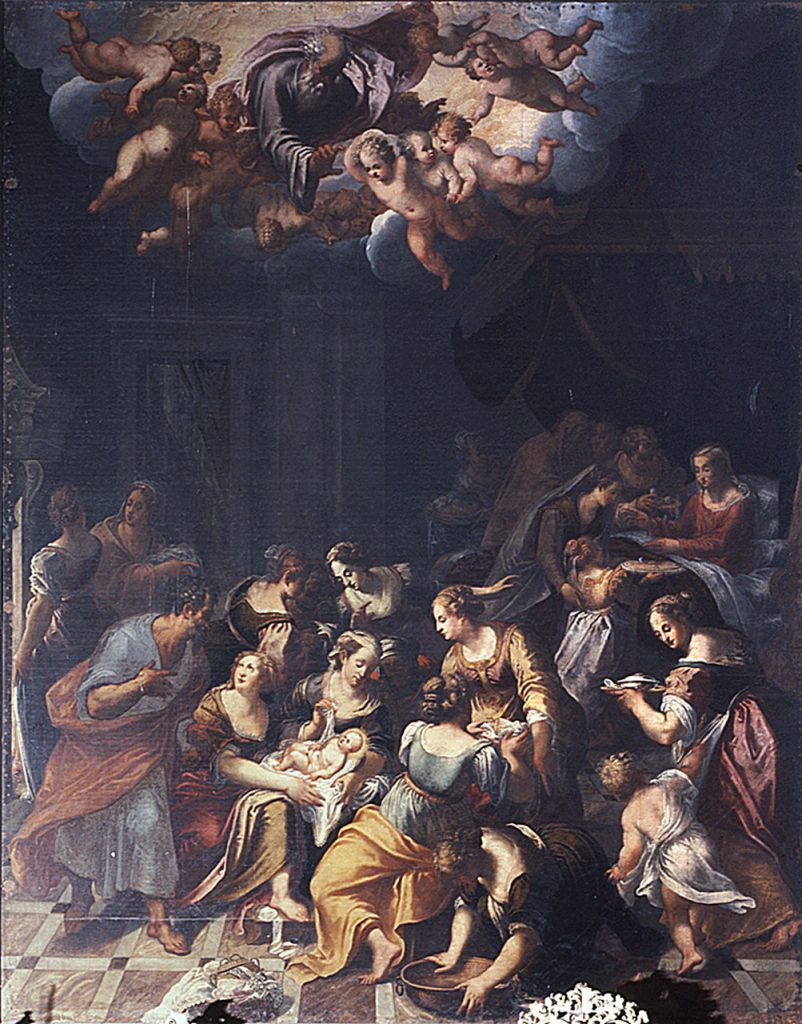 Fig. 4, Domenico Mona, Natività di Maria Vergine, 1580, Santa Maria in Vado.