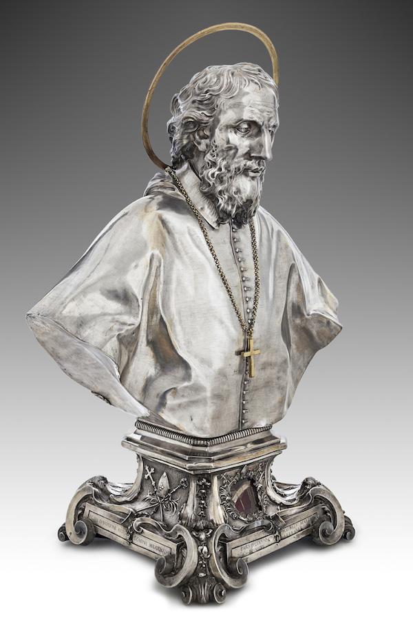 Fig. 1, Zanobio Troni, Busto di san Maurelio, 1725, Ferrara, Museo della Cattedrale, inv. MC098