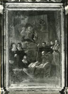 Fig. 6, Antonio Randa?, San Francesco di Sales approva la regola di Giovanna da Chantal, prima metà del XVII secolo, Ferrara, Santo Stefano