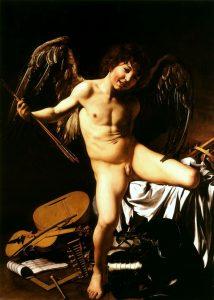 Fig. 2, Caravaggio, Amore terreno o Amor vincit omnia, 1602 circa, Berlin, Staatliche Museeen, Gemäldegalerie (foto Wikipedia)