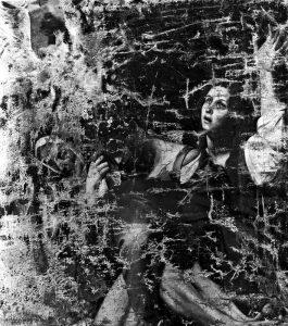 Fig. 4, Artista romano (da Caravaggio), Deposizione di Cristo (frammento) tela, Ferrara, Pinacoteca Nazionale, inv. 232 (part., Fotofast_2353)