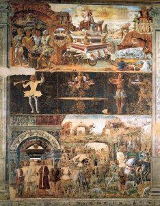 Fig. 1, Ercole de' Roberti, Settembre, 1469 ca., Ferrara, Palazzo Schifanoia, Salone dei Mesi