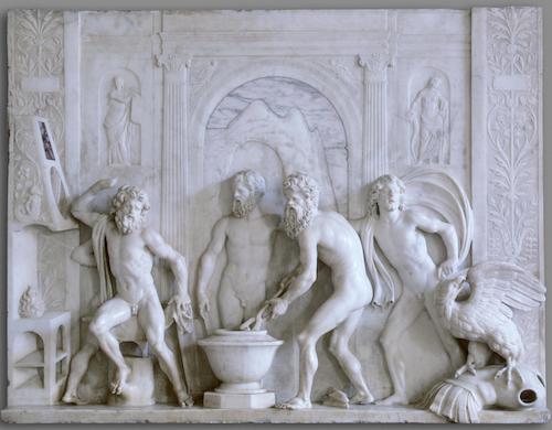 Fig. 2, Antonio Lombardo, Fucina di Vulcano, post 1508, San Pietroburgo, Hermitage State Museum