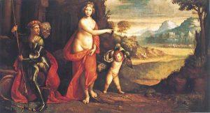 Fig. 4, Garofalo, Venere e Marte davanti alle porte di Troia, 1520-25, Dresda, Gemäldegalerie