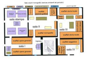 Fig. 4, Pianta della biblioteca di Palazzo Bonacossi