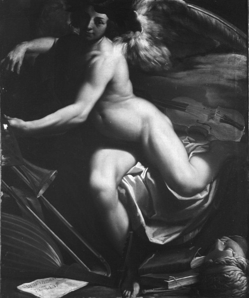 Fig. 1, Carlo Bononi, Genio delle arti, 1617-18 circa, collezione privata