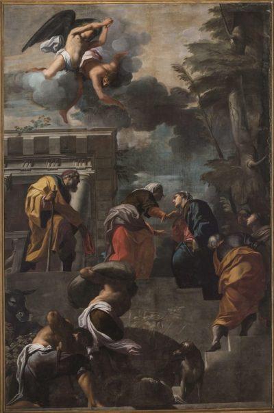 Fig. 3, Carlo Bononi, Visitazione, 1616-17, Ferrara, Santa Maria in Vado, navata.