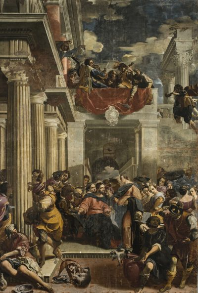 Fig. 10, Carlo Bononi, <em>Nozze di Cana</em>, 1623-24, Ferrara, Santa Maria in Vado, presbiterio.