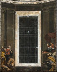Fig. 9, Carlo Bononi e bottega, Disputa, 1623-24, Ferrara, Santa Maria in Vado, presbiterio.