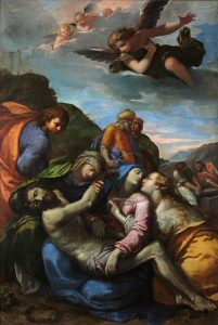 Fig. 9 - Ippolito Scarsella detto Scarsellino (1551-1620), Deposizione di Cristo, post 1612, olio su tela, cm 245 x 165,3, Ferrara, ASP, in deposito presso i Musei di Arte Antica, inv. DOC25