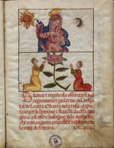 Fig. 1 - Statuti del Conservatorio di Santa Mari della Rosa, Ferrara, Biblioteca Comunale Ariostea, Cl. I 780
