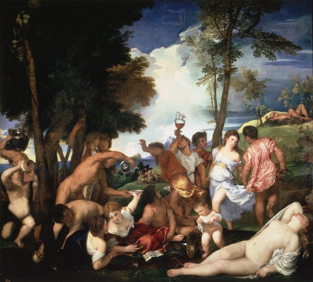 Fig. 12 - Tiziano, Baccanale degli Andri, 1523-26, Madrid, Museo del Prado