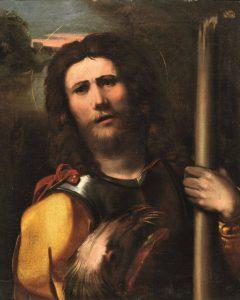 Fig. 15 – Ippolito Scarsella detto Scarsellino (copia da Dosso Dossi), San Giorgio, 1609 ca., collezione privata