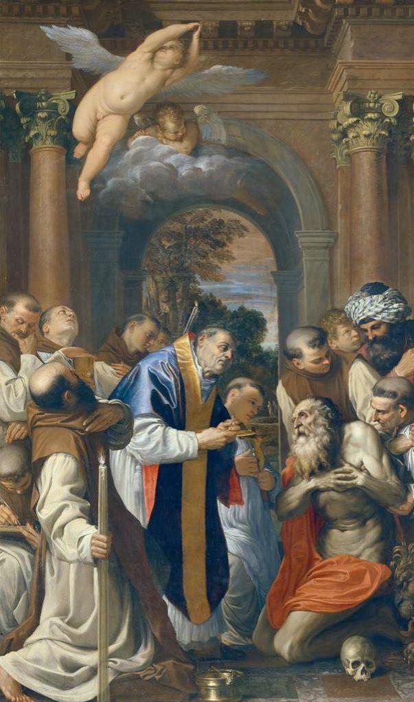 Fig. 16 – Agostino Carracci, Ultima comunione di San Girolamo, 1592-97, Bologna, Pinacoteca Nazionale