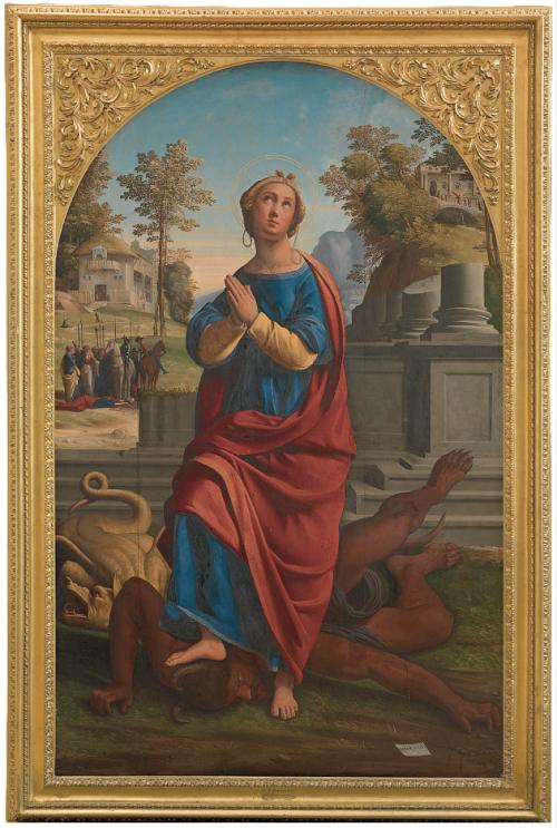 Fig. 6 - Giovanni Battista Benvenuti detto Ortolano, Santa Margherita, 1524, Copenaghen, Statens Museum for Kunst