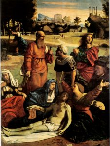 Fig. 8 - Giovanni Battista Benvenuti detto Ortolano, Deposizione, 1520 ca., Roma, Galleria Borghese