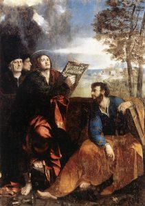 Fig. 9 - Dosso Dossi, San Giovanni, san Bartolomeo e due donatori, 1527, Roma, Barberini Corsini Gallerie Nazionali, Palazzo Barberini