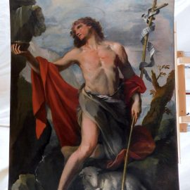 Note da un restauro: il San Giovanni Battista alla fonte di Giacomo Parolini