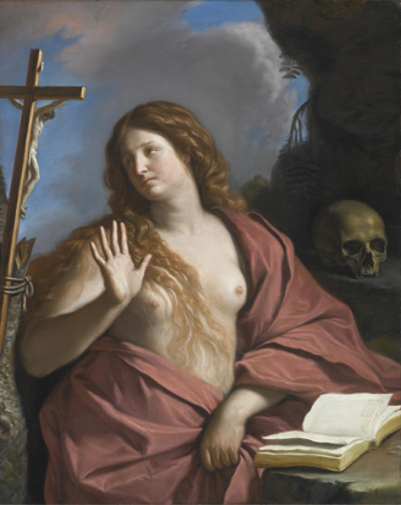 Fig. 2 - Guercino, Maddalena in adorazione del Crocifisso, 1654, collezione privata
