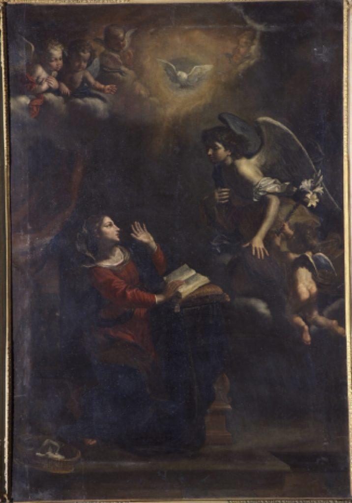 Fig. 4 - Cesare Gennari, Annunciazione, 1669, Villeneuve-les-Avignon, Musée Pierre-de-Luxembourg /ref. © Villeneuve lez Avignon, Musée Pierre-de-Luxembourg / Maryan Daspet