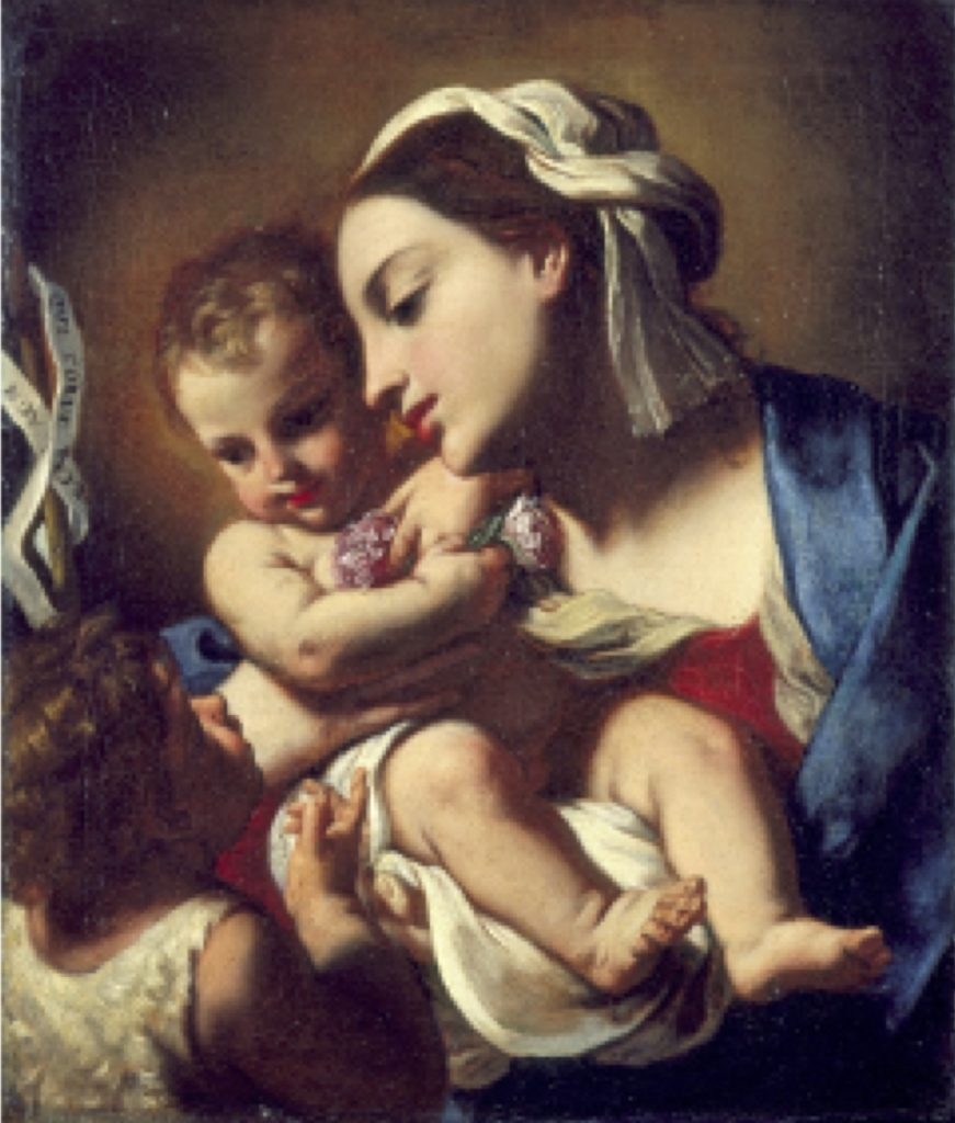 Fig. 7 - Elisabetta Sirani, Madonna col Bambino e san Giovannino, 1664, Pesaro, Musei Civici