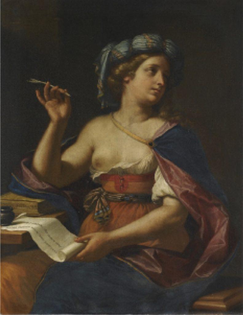 Fig. 8 - Cesare Gennari, Ipparchia la cinica come poetessa, ante 1678., già Londra, Sotheby's, vendita 27 ottobre 2011