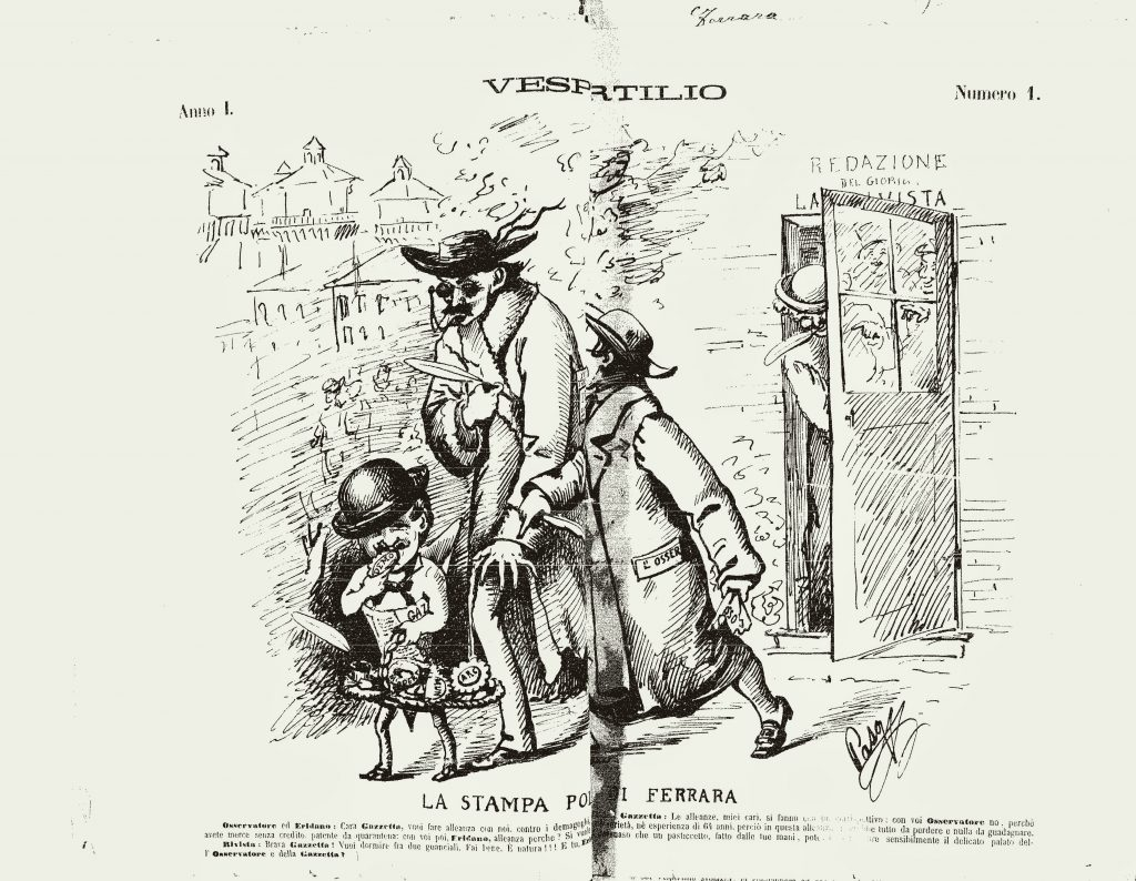 """Fig. 1 – """"Il Vespertilio"""", 1, 16-17 marzo 1879, p. 2"""