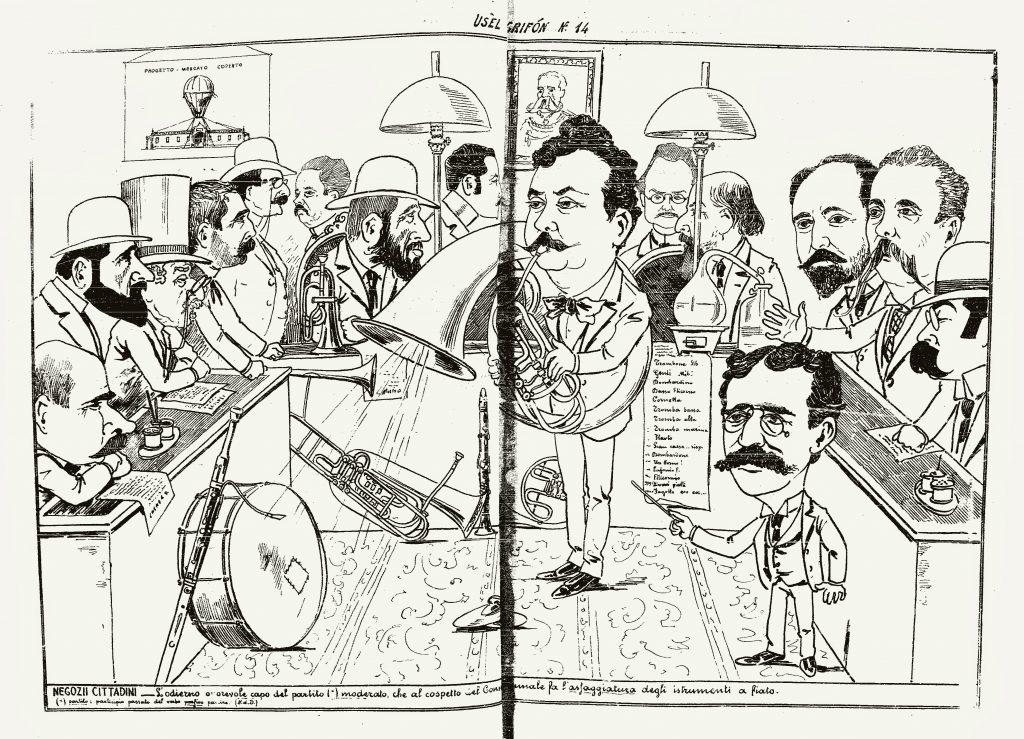 "Fig. 10 - ""Usel Grifon"", 14, 23 luglio 1894, pp. 2-3"