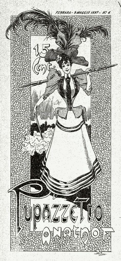 """Fig. 11 – """"Il Pupazzetto Ferrarese"""", 6, 9 maggio 1897, p. 1"""