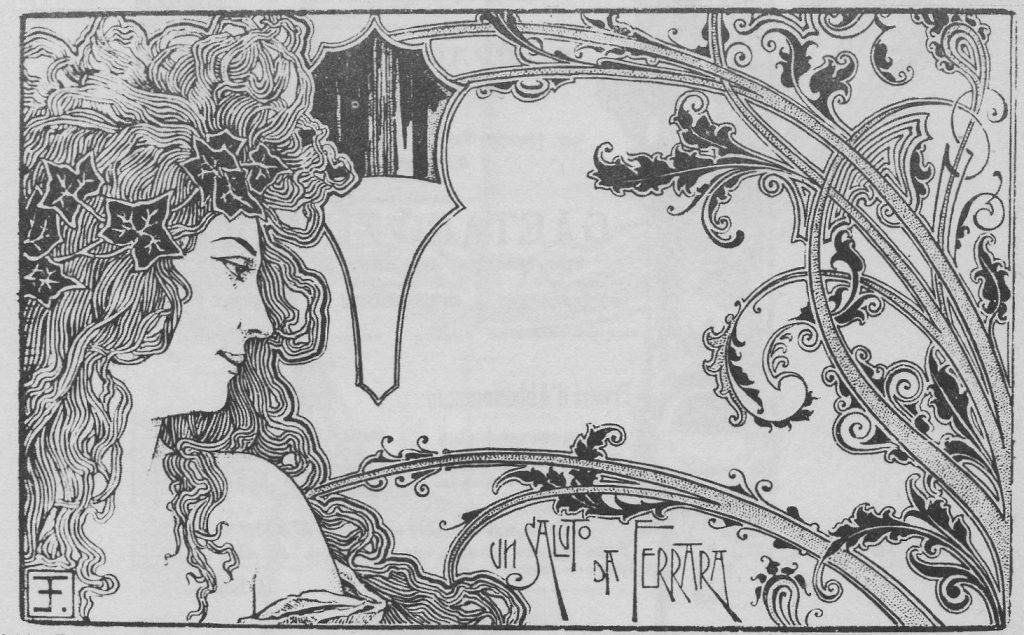 Fig. 14 - E. Fontana, Cartolina illustrata, 1900