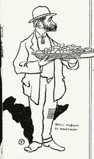 """Fig. 16 – """"La Macchietta Ferrarese"""", 17 maggio 1908, p. 2, (part.)"""