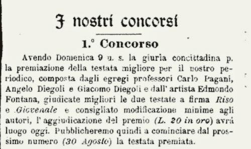 """Fig. 17 – """"La Macchietta Ferrarese"""", 17 maggio 1908, p. 2, (part.)"""
