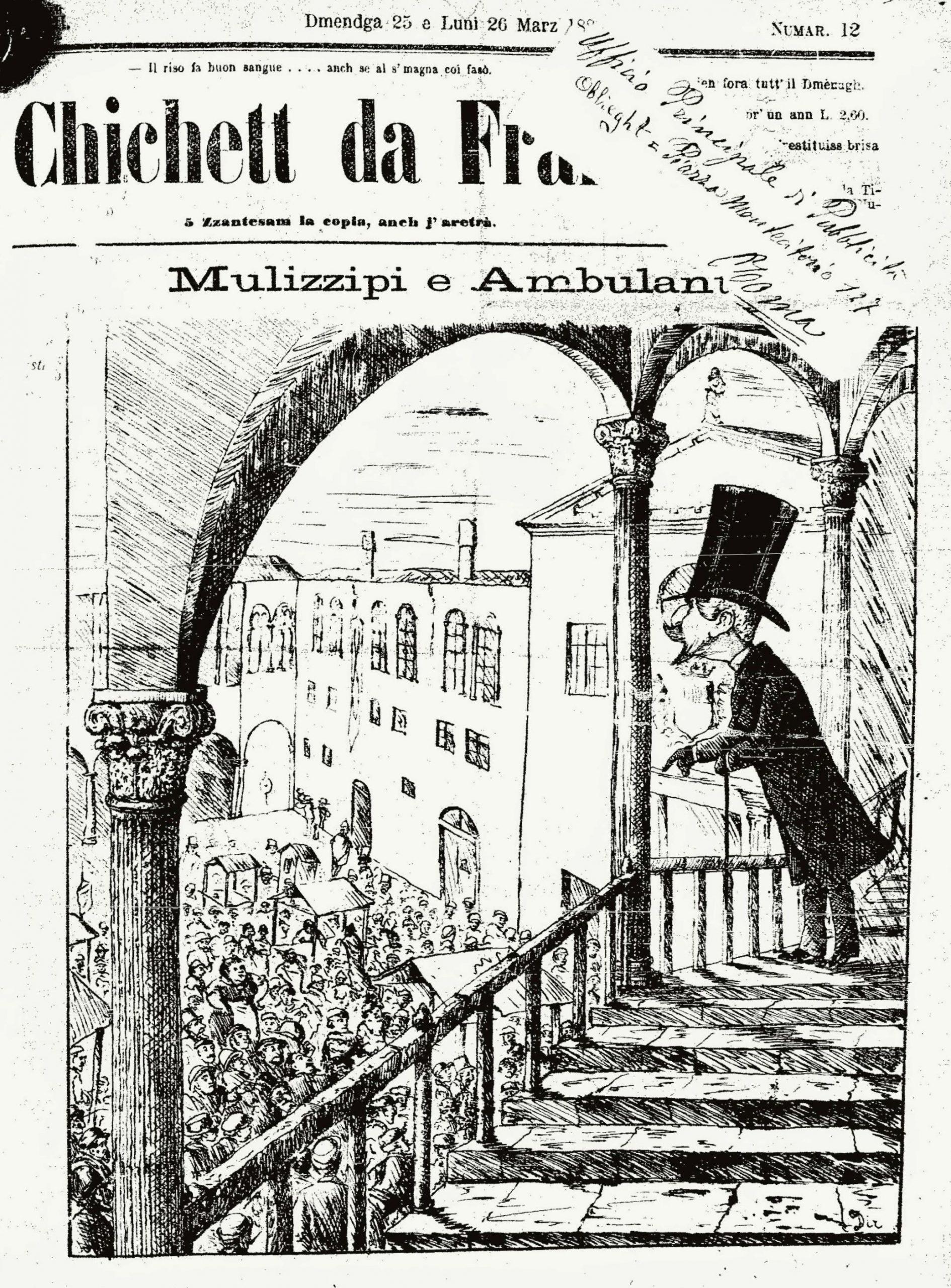"""Fig. 5 - """"Il Chichett da Frara"""", 12, 25 -26 marzo 1883, p. 1"""