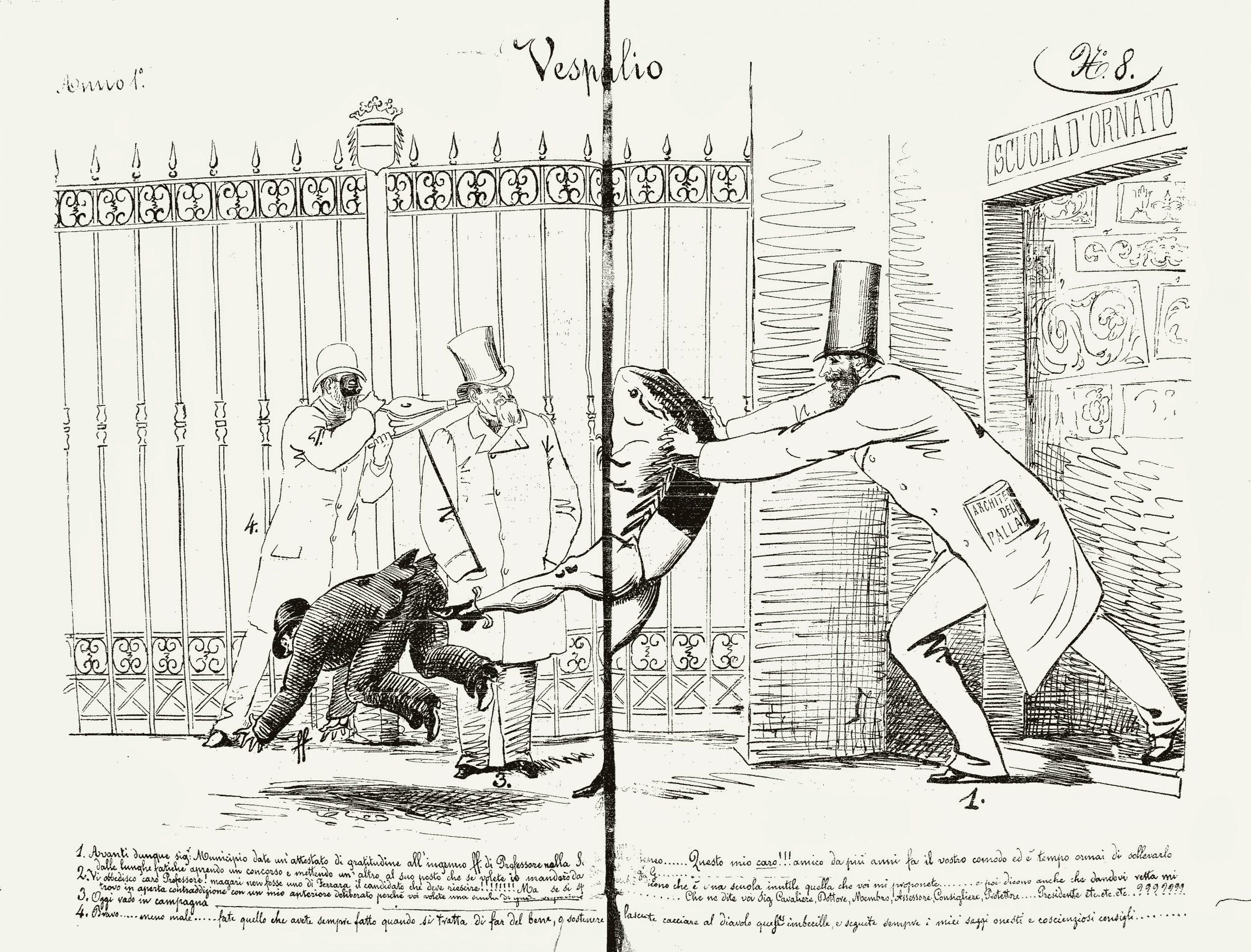 """Fig. 6 - """"Il Vespertilio"""", anno I, 8, 4 -5 maggio 1879, pp. 2-3"""
