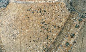 Francesco del Cossa, Marzo registro inferiore (part. del giovane in primo piano), 1469 circa, dipinto murale, Ferrara, Palazzo Schifanoia, Salone dei Mesi