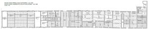 Fig. 2 - Rilievo: planimetria delle strutture del piano nobile (Palazzo Schifanoia, prima degli interventi)